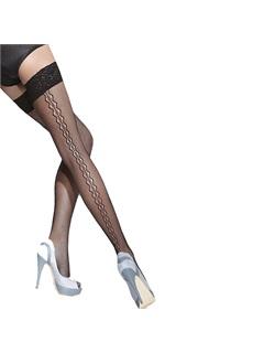 Κάλτσες δίχτυ με σχέδιο στη ραφή