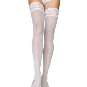 Κάλτσες νυφικές ιβουάρ με σιλικόνη