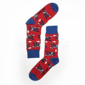Κόκκινες κάλτσες για άνδρες με σχέδια