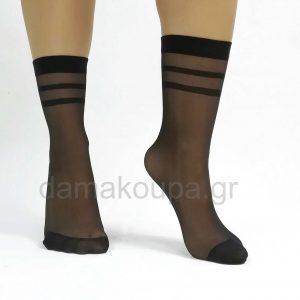 Γυναικείες κάλτσες με ρίγα