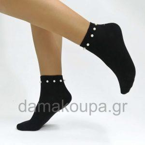 Γυναικεία κάλτσα κοφτή με πέρλα