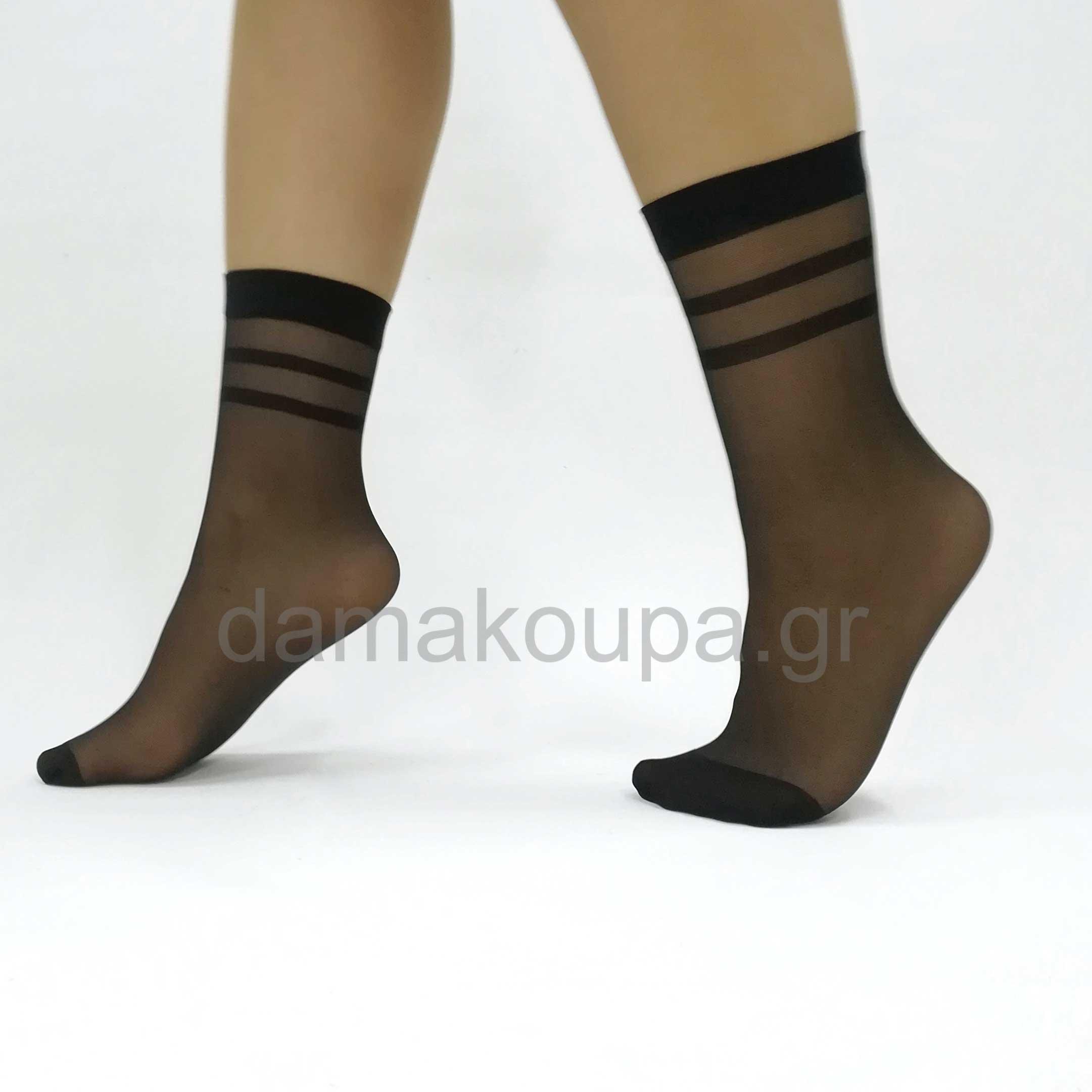 Γυναικείες κάλτσες με ρίγα Κάλτσες γυναικείες με ρίγες ea832b157f0