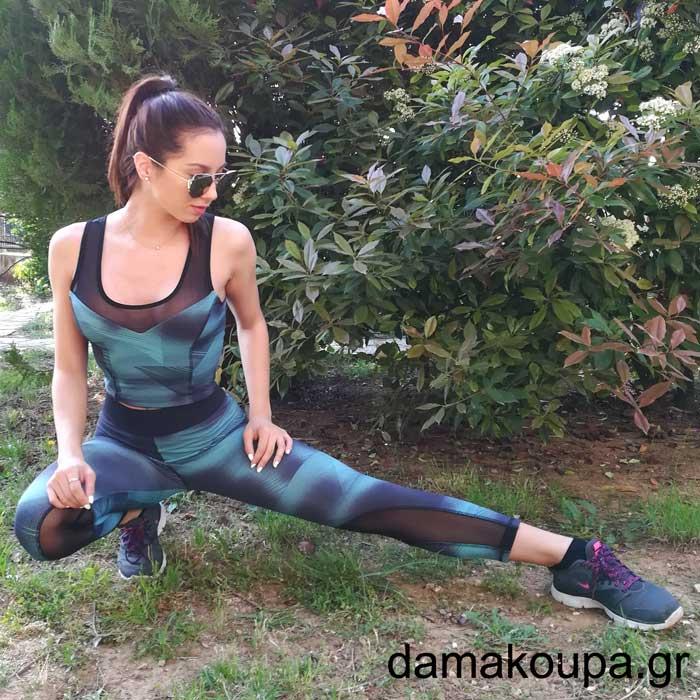 27e25573492e Γυναικείο αθλητικό κολάν push up Dama Koupa