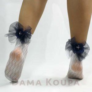 ασπρή κοντή γυναικεία κάλτσα