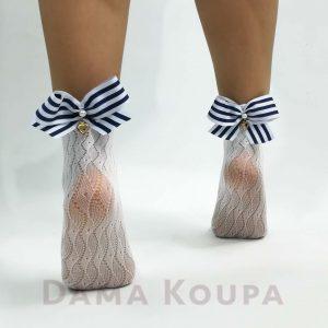 Κάλτσες με φιόγκο πίσω