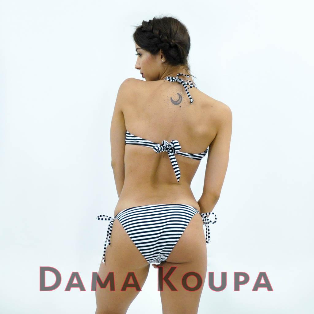 σλιπ μπικίνι κανονικό Άσπρο μπλέ top   bikini τοπ στραπλες με ενίσχυση 2b3e59a16e4
