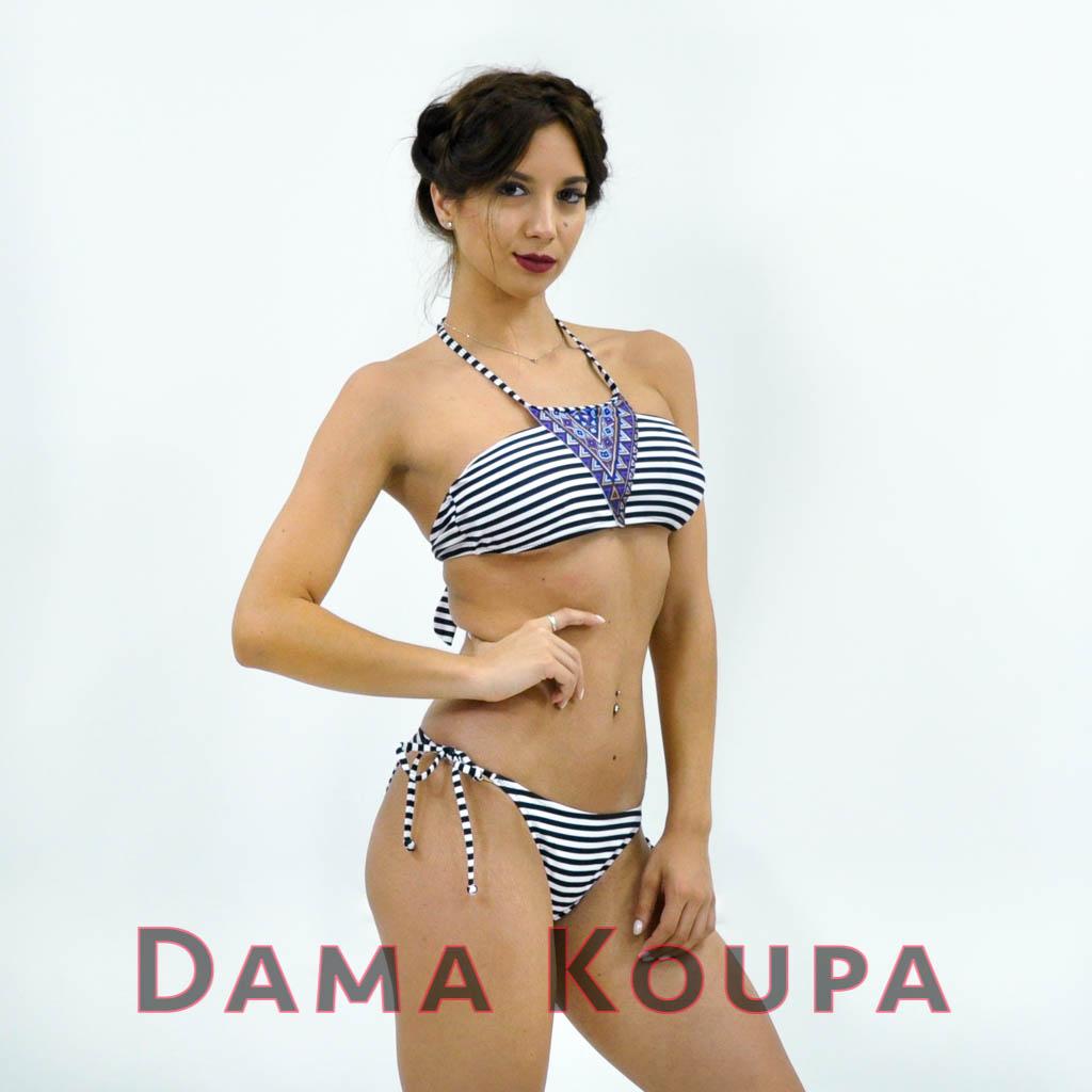 σλιπ μπικίνι κανονικό Άσπρο μπλέ top   bikini τοπ στραπλες με ενίσχυση ae6f985b8af