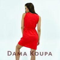 Κόκκινο φόρεμα πικέ
