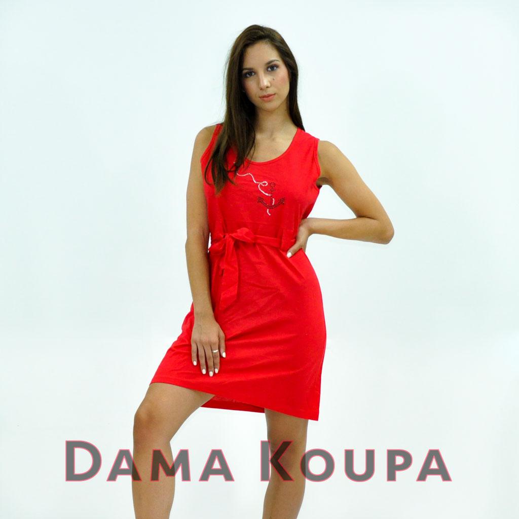 Κόκκινο φόρεμα κοντό Καθημερινό φόρεμα τύπου lacoste ... dda5f089b97