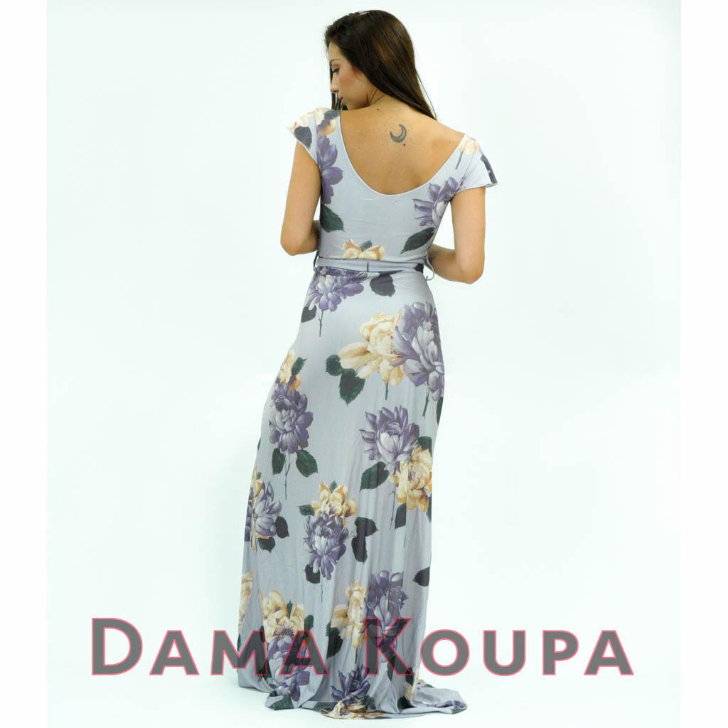 9f9bd2d1952 Μακρύ φλοραλ φόρεμα floral φορέματα maxi ...