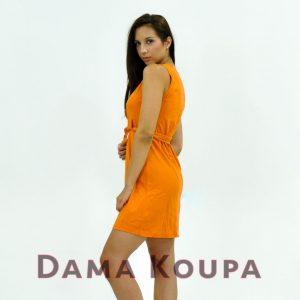 Πορτοκαλί καθημερινό φόρεμα στενό