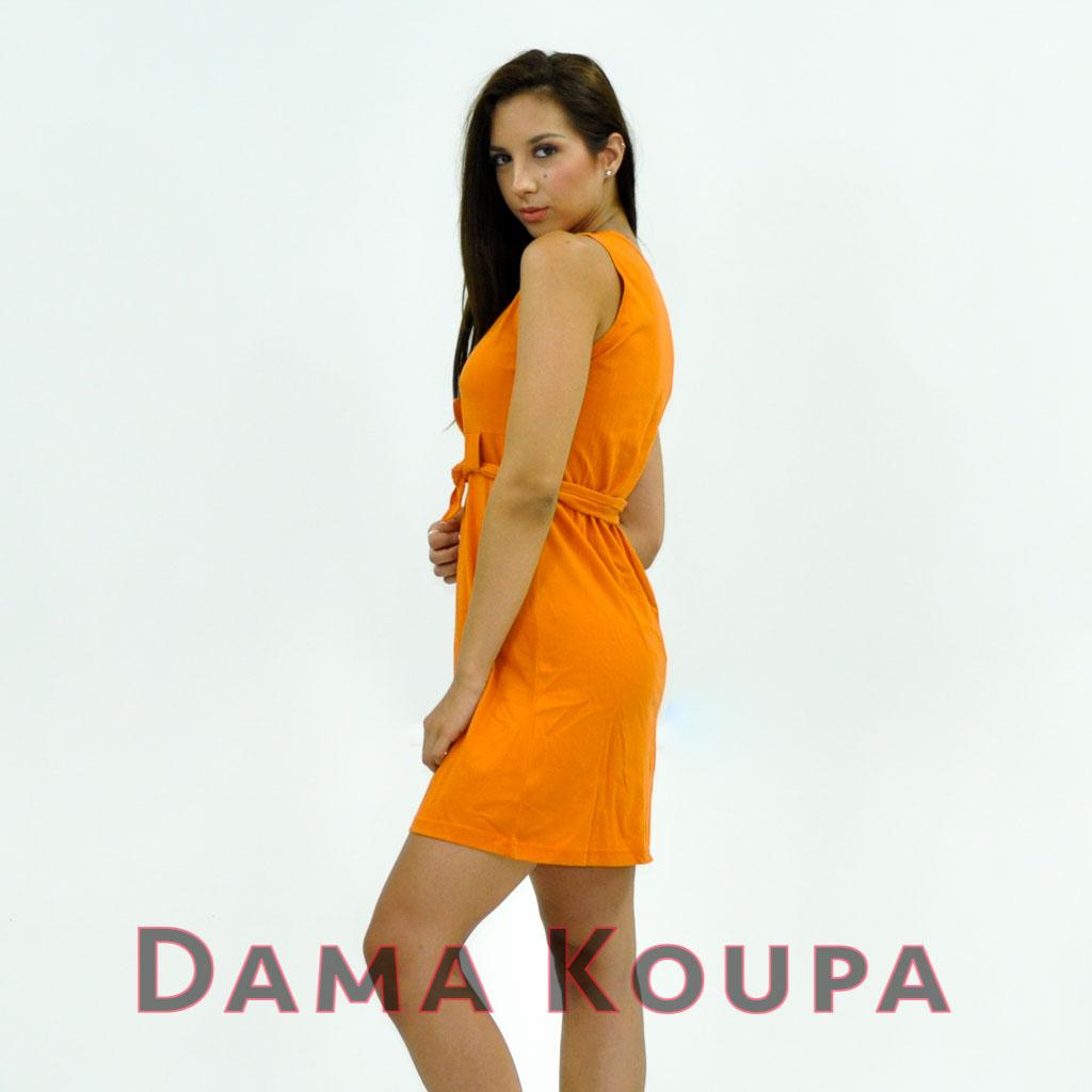 Φόρεμα θαλάσσης κοντο Πορτοκαλί καθημερινό φόρεμα στενό Καθημερινό φόρεμα  τύπου lacoste 8758fb80c26