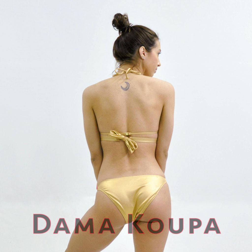 Σλιπ μπικίνι κανονικο Σετ μαγιό σε χρυσό χρώμα Slip bikini κανονικο 51d6450738f