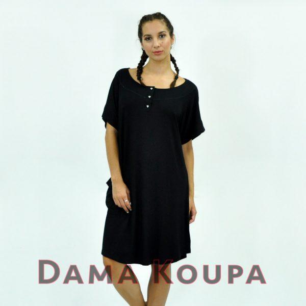 Μαύρο φόρεμα παραλίας για μεγάλες ηλικίες