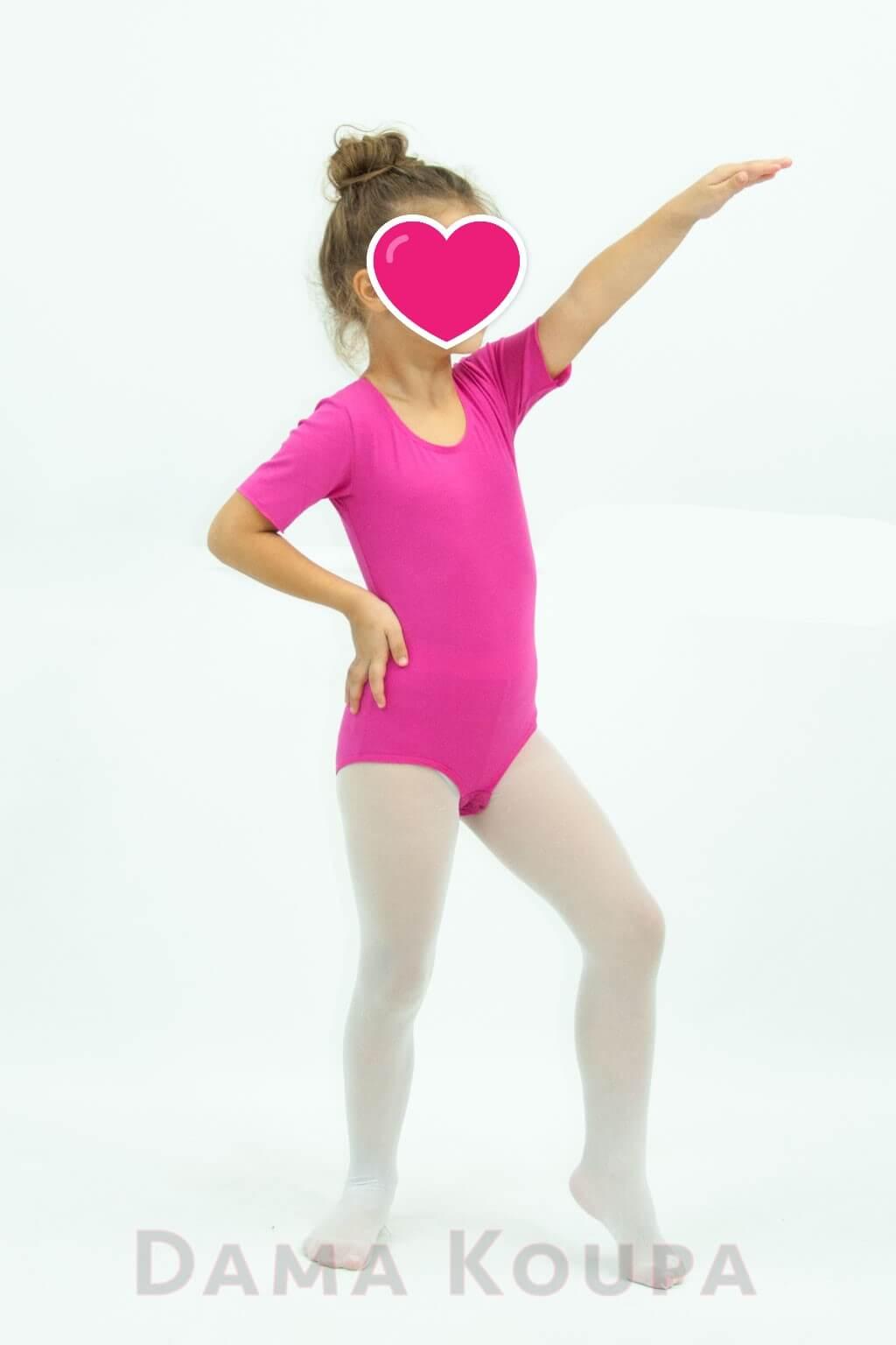 fe57fe7ead4 Παιδικό κορμάκι γυμναστικής με κοντό μανίκι Dama Koupa