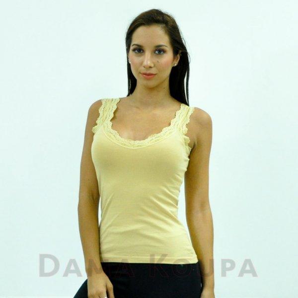 Γυναικείο φανελάκι στο χρώμα του δέρματος βαμβακερό