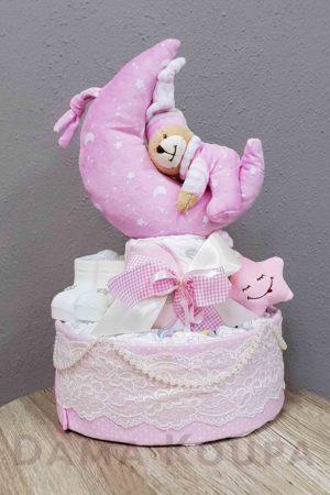 Τούρτα για νεογέννητο κορίτσι