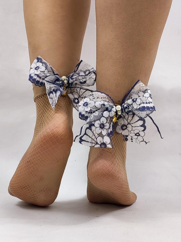Μπεζ κάλτσες με πέδιλο
