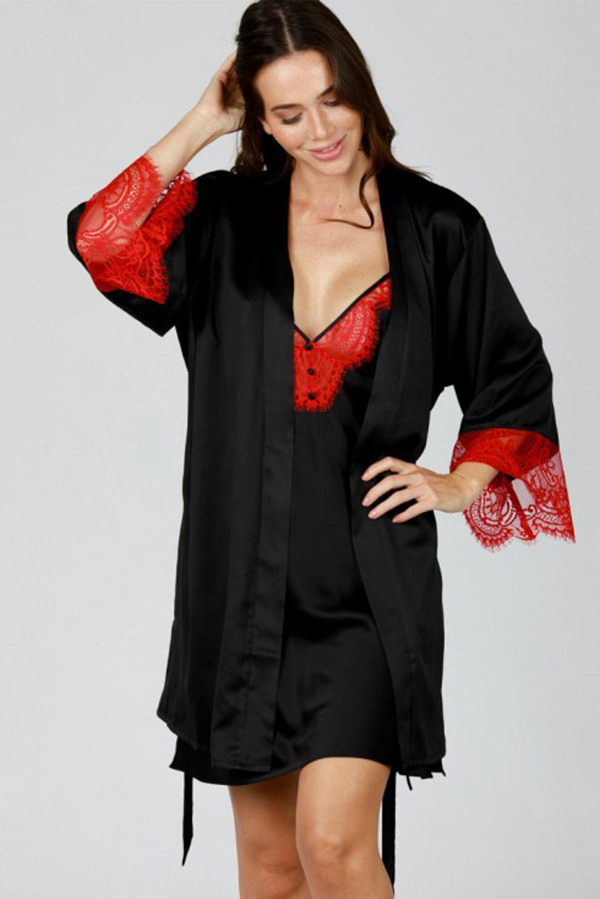 saten-rompa-kimono-me-dantela-kokkini